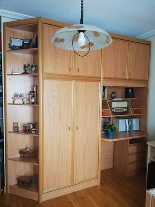 Mueble armario-escritorio-cama