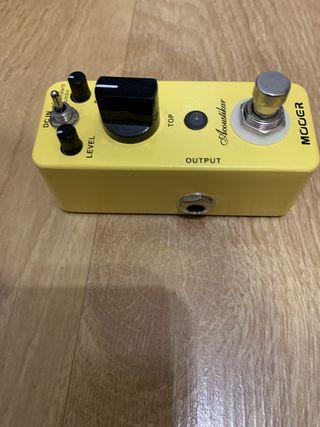 Pedal electrica simulador acustica
