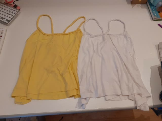 pack dos camisetas espalda descubierta