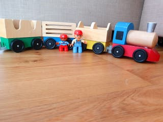 Village train with two dolls