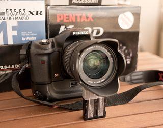 Cámara fotos réflex digital Pentax K10D y lentes
