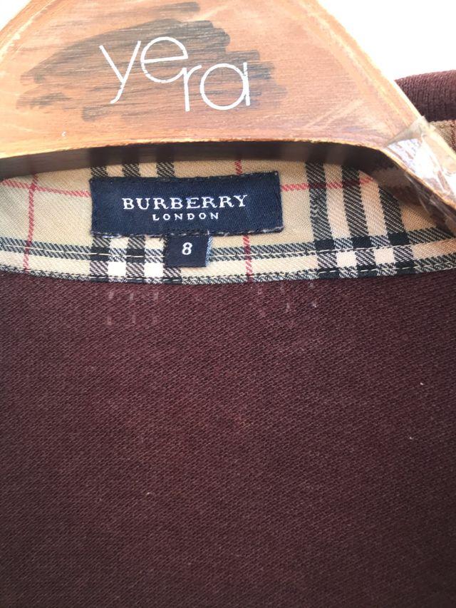 Polo manga larga burdeos BURBERRY talla 8