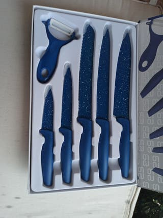 Estuche de 6 cuchillos anti adherentes