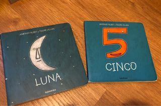 """Libros bebé Kalandraka """"Cinco"""" y """"Luna"""""""