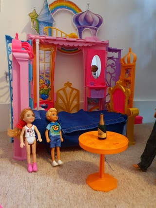 barbie dolls and furnitures