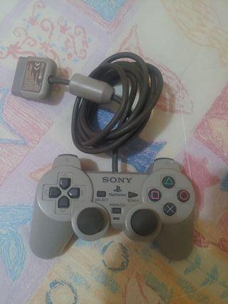 Mando Dual Shock original de Sony para PS1 - gris
