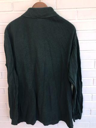 Polo manga larga verde oscuro LACOSTE talla 6