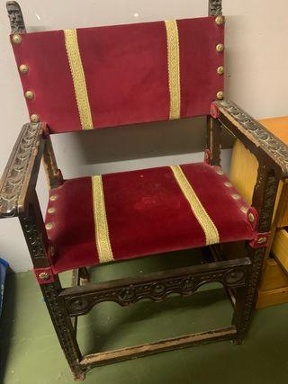 Sillon Luis XV de terciopelo