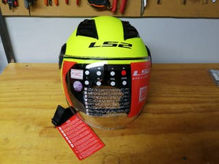 casco moto jet Ls2 fluor mate