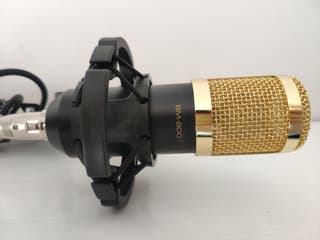 Micrófono BM-800 + artilugio para engancharlo