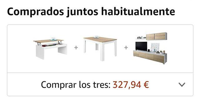MUEBLE SALÓN, MESA DE SALÓN Y MESA DE CENTRO