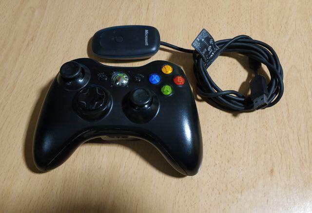Mando Xbox 360 inalámbrico original + receptor PC