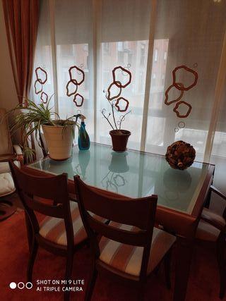 Mesa salón comedor con 4 sillas