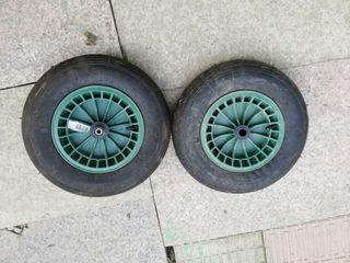 ruedas de carretilla llanta de plástico