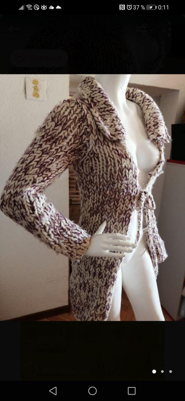 Chaqueta lana estilo boho