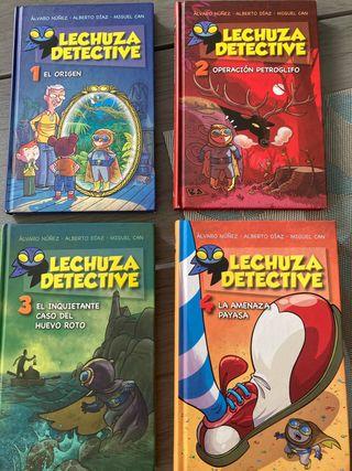 Lechuza detective colección 4 libros