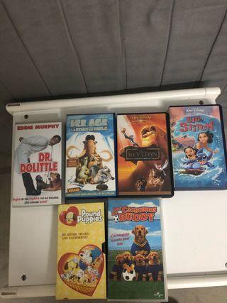 Lote de Cintas VHS Debujos Animados
