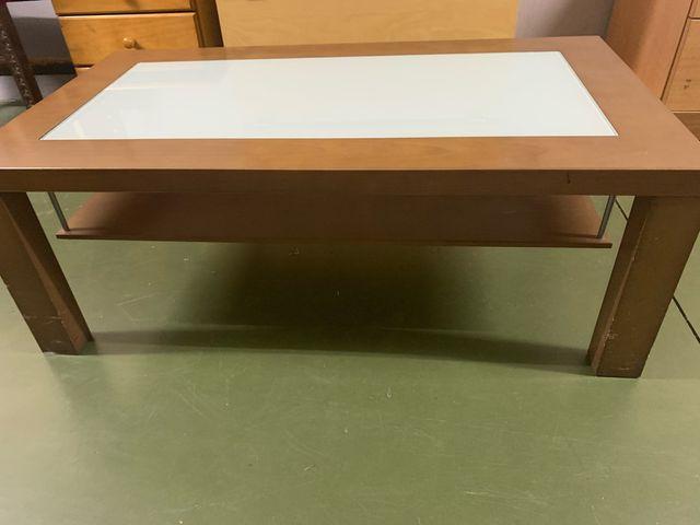 Mesa centro d madera nogal