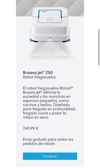 Robot friegasuelos: Braava jet 240