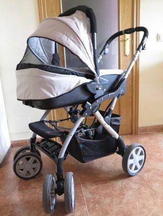 carro/capazo + silla de auto grupo +0 baby design