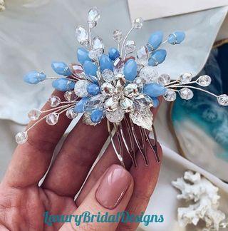 Tocado de novia invitada a boda peineta novia