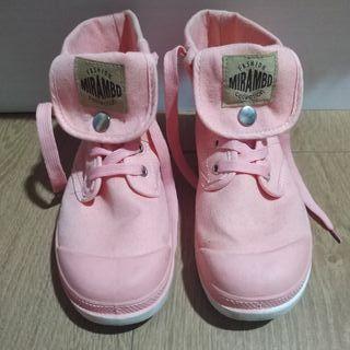 Zapatillas altas rosas Mirambo collection 38