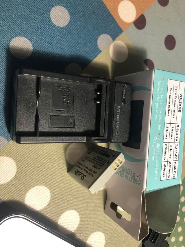 Cargador baterías cámara NB4L, NB6L, NB8L