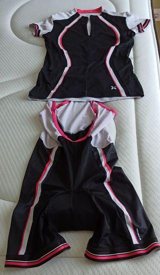 conjunto ciclismo camiseta y culotte