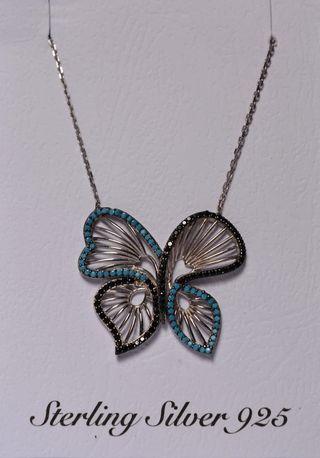 Colgante mariposa plata 925