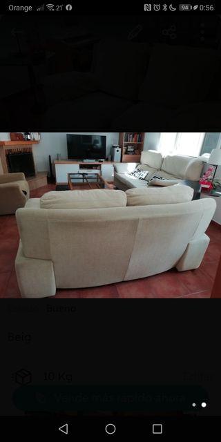 conjunto de tres sofás