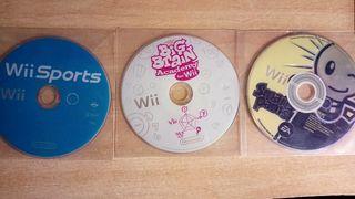 tres juegos para nintendo Wii