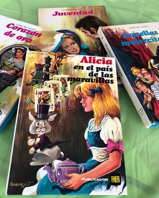 Pack (5) de libros juveniles años 80 variados