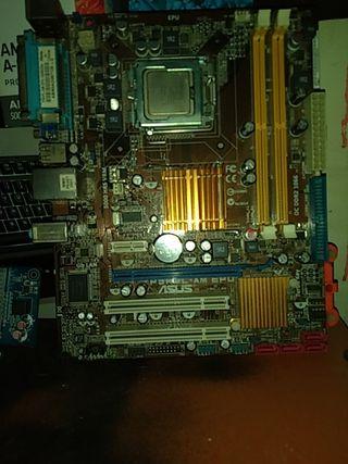 placa base lga 775 + intel core 2 duo