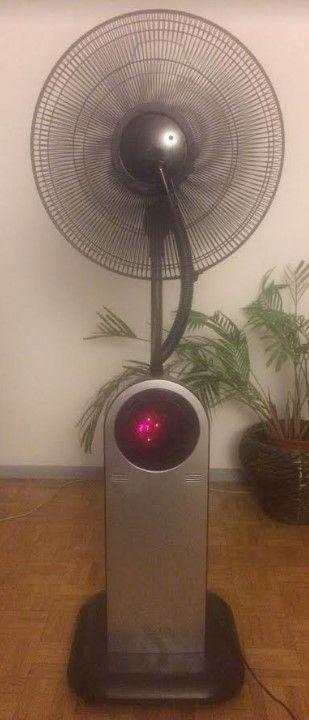 Ventilador - nebulizador de pie, oscilante, 40cm