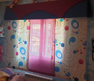 cortinas paneles de 200 cm.
