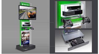 Mueble demo Xbox One como nuevo
