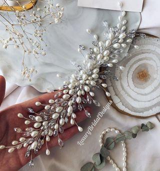 Tocado Joya de novia invitada a boda fiesta