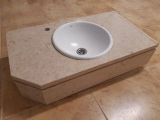Lavabo Roca y encimera de marmol