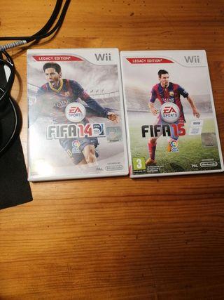 juego Wii Fifa 14 y 15