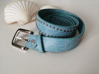 cinturón azul mujer