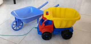 camion y carretilla juguete
