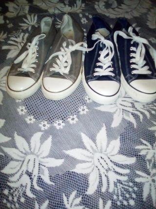 Zapatillas unixes dos colores