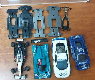 LOTE SCALEXTRIC TECNITOYS TYCO SCX Y CHASIS