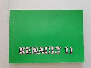 Manual instrucciones Renault 11
