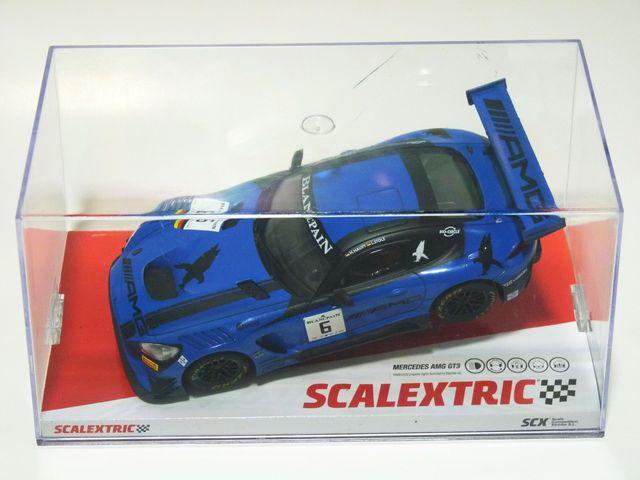 "Scalextric Mercedes AMG GT3 ""Black Falcon""."