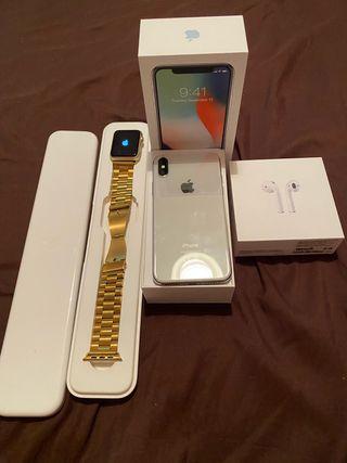 iPhone X + Apple Watch + AirPod