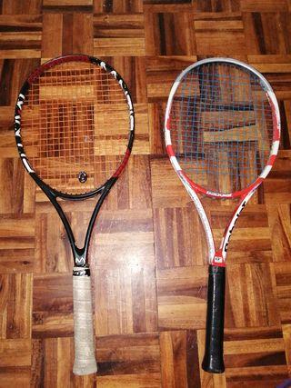 raquetas de tenis semiprofesionales