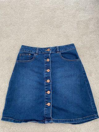 Red herring blue denim skirt