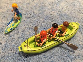 Playmobil niños barca surf