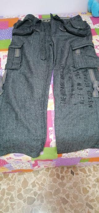 pantalon paño desigual